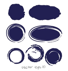 Circle ink drop set vector
