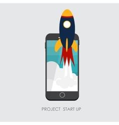 Quick start up flat concept vector