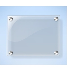 Glass plate on white background vector