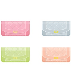 Female handbags in pastel tones vector