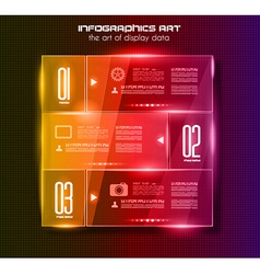 Infographic design template with glass surfacesand vector