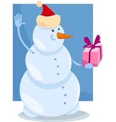 Christmas snowman cartoon vector