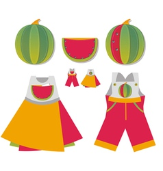 Homemade childrens pockets vector