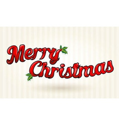 Merry christmas text worked out to details art vector