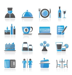 Cafe and bar icon vector