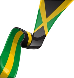 Jamaican ribbon flag vector