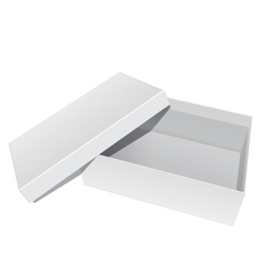 White blank package box opened with the cover vector