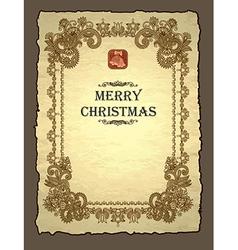 Royal christmas invitation vector