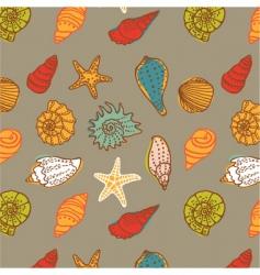Shells seamless vector