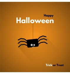 Happy halloween label with spider vector