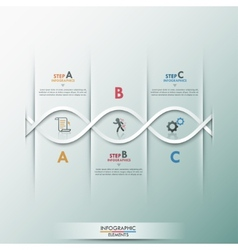 Modern infographics process template vector