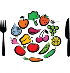 Vegetables plate vector