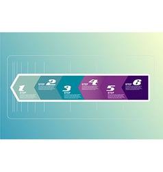 Six steps arrows for presentations vector