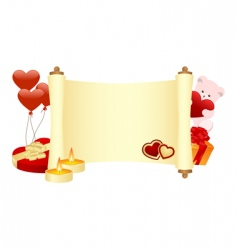 Valentines scroll vector