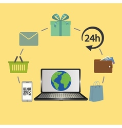 Online business and e-commerce concept vector