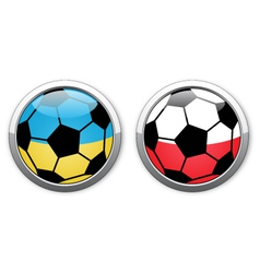 Euro 2012 football polish ukrainian balls vector