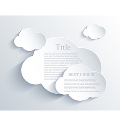 Cloud design element with place for your text vector