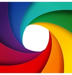 Swirly rainbow paper layers background vector