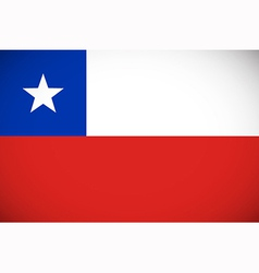 National flag of chile vector