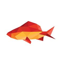 Origami fish vector