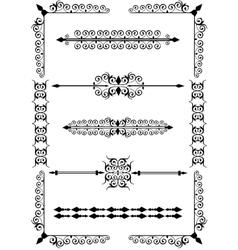 Victorian scrolls vector