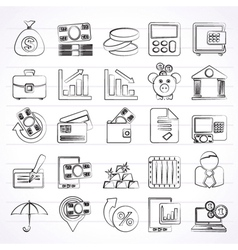 Bank business and finance icons vector