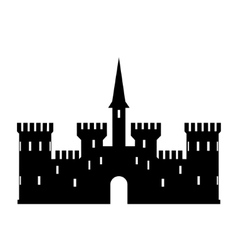 Abstract castle logo template vector