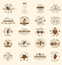 20 summer badges vector