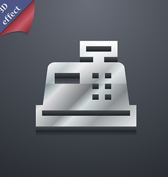 Cash register icon symbol 3d style trendy modern vector
