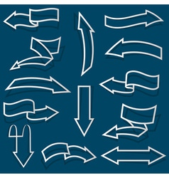 Arrows from paper outline vector