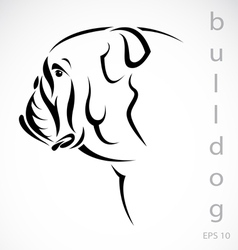 Dog bulldog vector