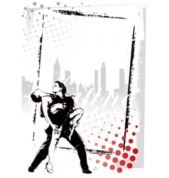 Latino dancing poster vector