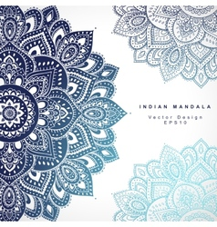 Beautiful indian floral ornament wedding vector