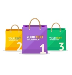 Paper bag sale option banner vector