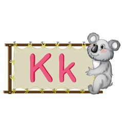 Alphabet letter on a canvas vector