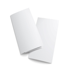 Couple of blank trifold paper brochure vector