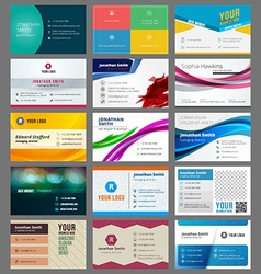 Set of modern creative business cards vector