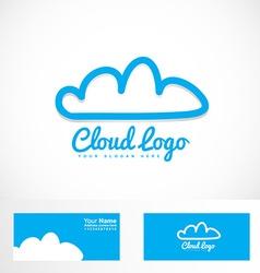 Blue cloud hosting logo vector