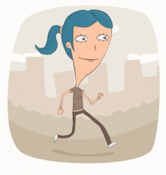 Jogging in the park vector