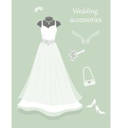 Wedding accessories vector