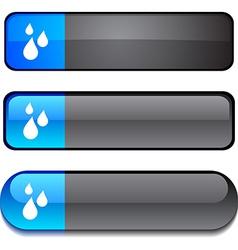 Rain button set vector