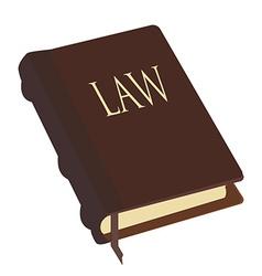 Brown law book vector