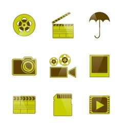 Icons video and photo filming vector