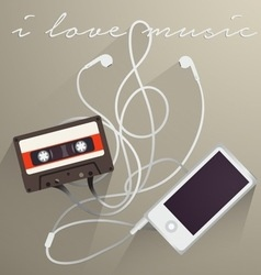 Music background i love music vector