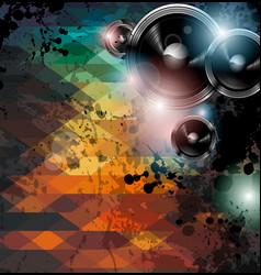 Disco club flyer template vector