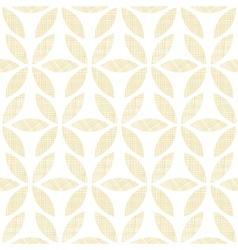 Abstract textile beige leaves seamless pattern vector
