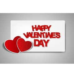 Happy valentines day card vector