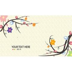 Flower spring season background vector