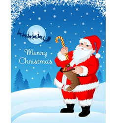 Santa with gifts vector