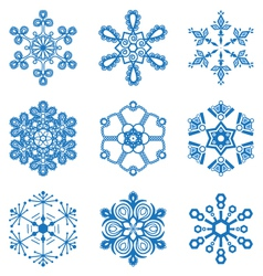 Original snowflakes set vector